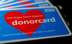 picture of NHS organ donor card